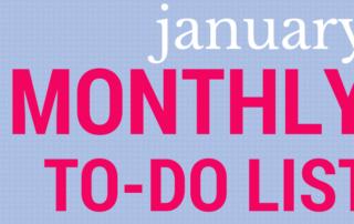 January ToDo List