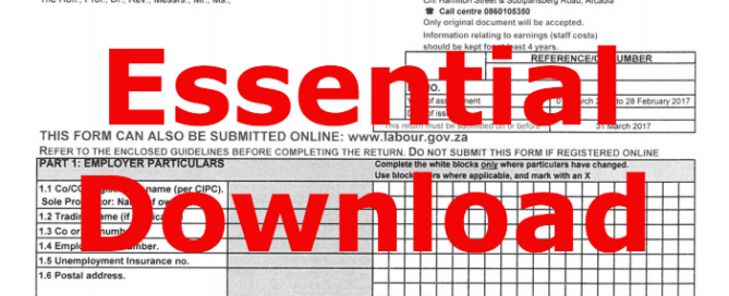 Essential download - Dept Labour - Return of Earnings